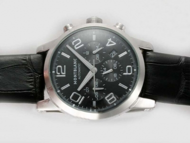 Fancy Montblanc Time Walker Chronograph Automatic with Black Dial AAA Watches [F7E8]