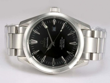 Cool Omega Seamaster Aqua Terra Big Size Automatic with Black Dial AAA Watches [A5R8]