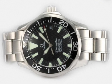 Cool Omega Seamaster Automatic with Black Dial and Bezel AAA Watches [F1G4]