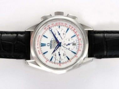 Gorgeous Omega Seamaster Chronograph Automatic with White Dial-Olympic Edition AAA Watches [V6W1]