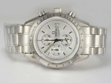 Modern Omega Speedmaster Working Chronograph with White Dial AAA Watches [Q7K3]