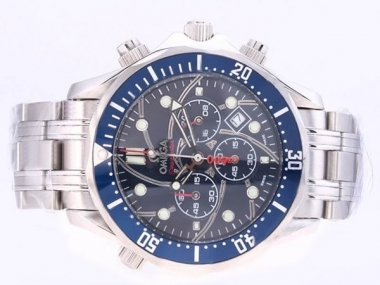 Perfect Omega Seamaster 40 Years of James Bond 007 Working Chronograph AAA Watches [A4L1]