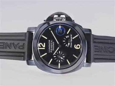 Cool Panerai Luminor Working Power Reserve Automatic PVD Case-Checker AAA Watches [E3Q6]