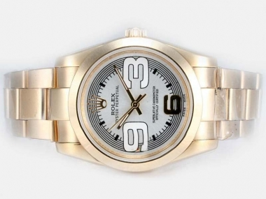Cool Rolex Air-King Oyster Perpetual Automatic Two Tone with Beige Dial AAA Watches [X8M5]