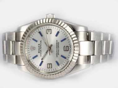 Cool Rolex Air-King Oyster Perpetual Automatic with White Dial AAA Watches [L8I1]