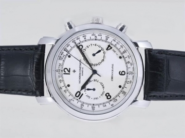 Cool Vacheron Constantin Malte Chronograph Automatic with White Dial AAA Watches [C4W4]