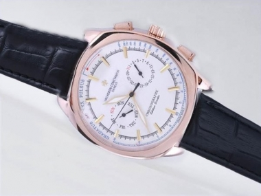 Modern Vacheron Constantin Classic Chronograph Automatic Rose Gold Case AAA Watches [V5C8]