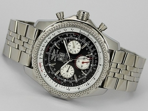 Stora Breitling Bentley 6,75 Big Date Chronograph Automatic med Gray Dial AAA klockor [J4V5]