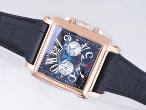 Cool Franck Muller Conquistador Kung Chronograph Automatisk Rose Gold AAA klockor [E5C3]